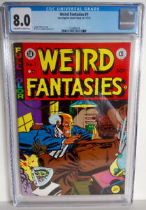 Weird Fantasies #1 CGC 8.0 1972 - 1st Print Landon Chesney & Al