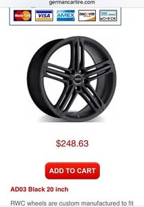 Direct-fit wheels for Audi A4, A5, S4, S5, A6, Q5.
