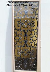 Door Insert- 24(w) x 66, Full High End Light Wrought Iron Insert