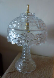 Two Crystal Table Lamps