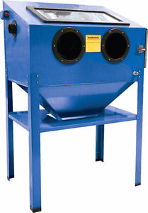 New Abrasive Blasting Cabinet and 2 bags of abrasives