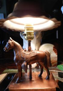 COOL Collection Vintage Lamps+Horse+MOD Lucite+Lily Lamp
