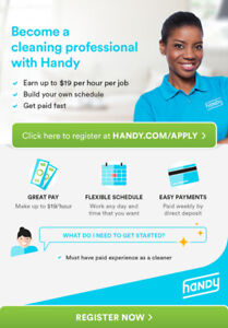 Cleaners Wanted - Earn up to $19/hour, set your own schedule!