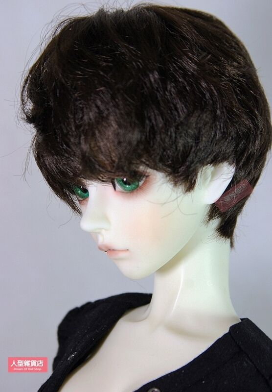BJD Doll 1//3 9-10 Wig Long Curly Afro Hairs Straight Bangs for Girl Blonde Brown
