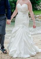 Beautiful ivory white Mori lee wedding dress.