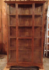 Oak Display/Curio Cabinet