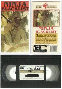 vhs Ninja BlacklistStar Classics1987 Martial Arts Exploitati