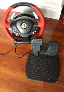 Thrustmaster ferrari spider 458 wheel and pedals for xbox one