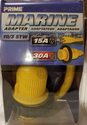 Prime Wire Marine adapter 10/3 15a-30a NEW