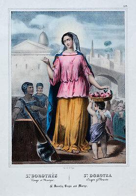 c1850 Dorothea Dorothee heilige Dorotea Schutzpatronin Gärtner Blumenhändler