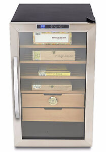 Stainless Steel Cigar Cooler Humidor  -  NEW