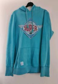 Womens blue superdry hoodie