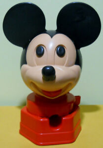 Vintage Plastic Mickey Mouse Gumball Machine