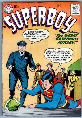 SUPERBOY 58  DC Comics 1957
