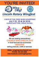 Vendors needed - Rotary Club of Lincoln Wingfest
