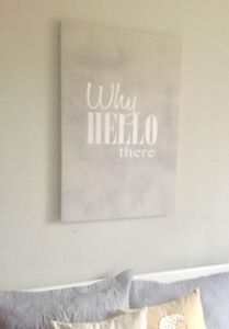 Large Gray Canvas Art (New Painting)