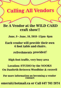 VENDORS WANTED!!!!!!!!!!!