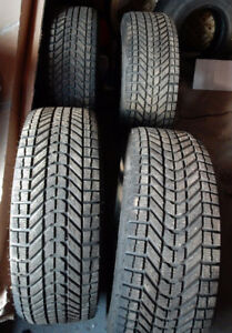 Four (4) Firestone Winter Force tires