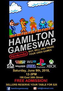 Hamilton Video Game Swap