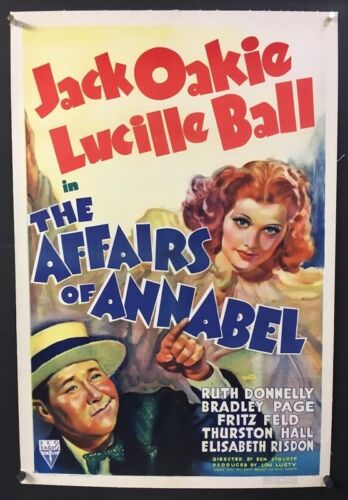 Affairs of Annabel Original Movie Poster 1938 Lucille Ball   *Hollywood Posters*