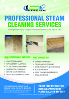 PROFESSIONAL STEAM CLEANING-SPECIALS & DISCOUNTS ON