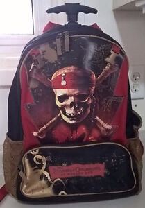 Disney Store PIRATES OF THE CARIBBEAN Rolling Luggage Back Pack