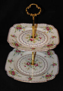 ROYAL ALBERT SMALL 2 TIER CAKE STAND - PETIT POINT