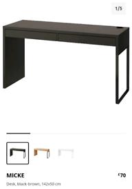 Ikea large black desk