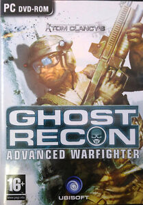 Ghost Recon Advanced Warfighter/PC DVD-Rom USAGÉ