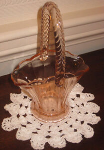 Depression Glass Basket