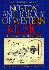 NORTON ANTHOLOGY  WESTERN MUSIC: ANCIENT to BAROQUE