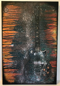 Guitar Abstract paintings by Milton Artist. Prices vary