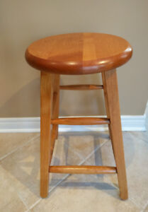 3 Counter/BAR STOOLS - real wood, looks great