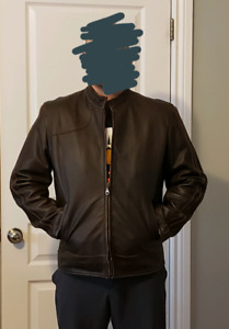Brown leather jacket.  Size XL