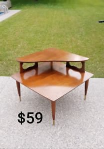 Mid Century Corner Table *Delivery Available*