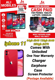 iphone 11 Comes With Unlocked One Year Warranty Charger Earphone Case