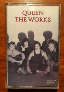 Vtg QUEEN Cassette THE WORKS Tape Album TESTED Rare Capitol Re