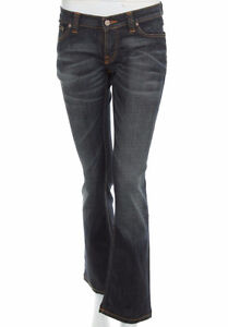 NUDIE Bootcut Eddy Clean Rough Mens Stretch Indigo Dark Denim Je Downtown-West End Greater Vancouver Area image 1