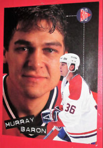MONTREAL CANADIENS HABS MURRAY BARON 1996 RETRO PICTURE