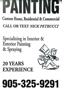 PAINTING A ROOM(905) 325-9291   QUALITY WORKMANSHIP