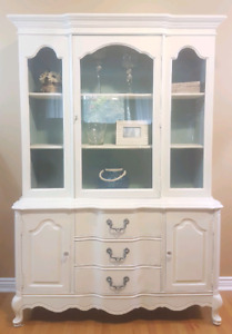 Refinished French Provincial Hutch