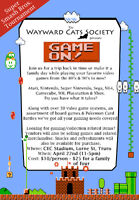 Game On! in support of the Wayward Cats Society