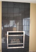 New look and modern fireplace / fireplace surround