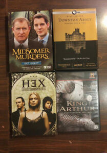 2 seasons of Downton Abbey, 1 Midsomer Murders 1 Hex King Arthur