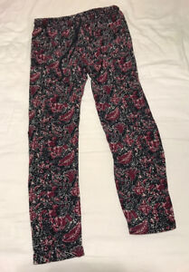 Navy Floral Casual Pants