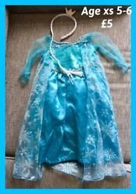 FROZEN ELSA DRESS UP xs 5-6