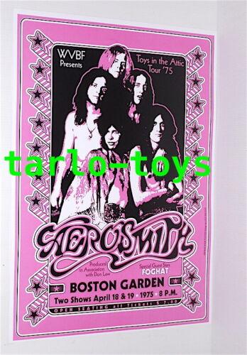 AEROSMITH + FOGHAT - Boston, Us - 18 april 1975  concert poster