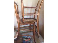 Delicate petite pretty occasional chairs x2