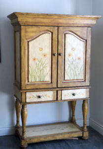 Beautiful vintage wine cabinet/ REDUCED-must sell!