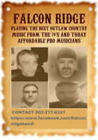 Falcon Ridge Outlaw Country Band is available for your event .